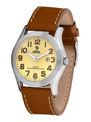 Dogma G7033 - Reloj de Caballero movimiento de quarzo con correa de piel cobre