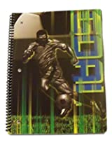 """Sport Themed Spiral Notebook ~ Soccer (Goal); 8"""" x 10.5""""; 70 Sheets, 140 Pages, Wide Ruled)"""