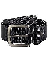 Zohran HNMELTIC Men Leather Formal Belt (Black) - 44