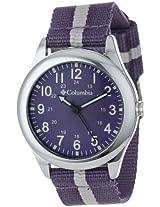 Columbia Columbia Unisex Ca016510 Field Fox Silver-Tone Watch With Nylon Band - Ca016510