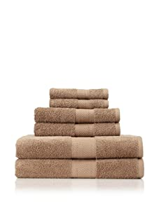 Terrisol 6-Piece MicroCotton Bath Towel Set (Mocha)