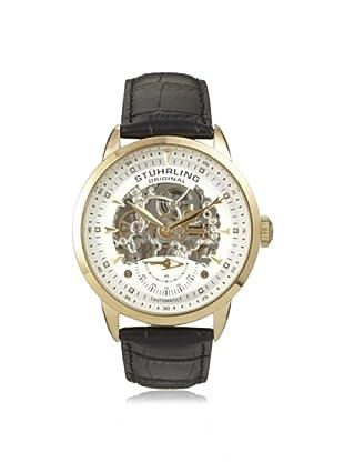 Stuhrling Men's 133.33352 Symphony Black/Gold Stainless Steel Watch