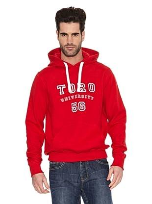Toro Sudadera University (Rojo Tomate)