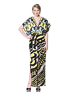 Chris Benz Women's Rhoda Printed Maxi Dress (Yellow/Black)