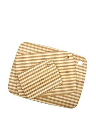Core Bamboo Classic Pin-Stripe Board Combo Pack, Natural, Small/Medium/Large