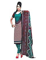 Traditional 2 Trendy Women's Unstitched Dress Material
