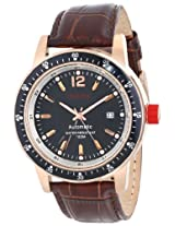 Red Line Watches, Men's Meter Automatic Black Dial Brown Leather, Model 50013-RG-01-BR