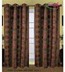 Handloom Trendz Brown Printed Door Curtains (Set of...