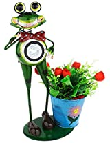 Green Girgit Metal Solar Frog Planter, 40 cm x 0 cm x 0.0 cm, 1 Piece