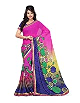 Vibes Cotton Patch Work Saree (S20-1263-A _Multi-Coloured)