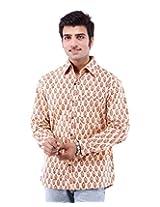 Albelishop Men's Button Front Shirt (FI011_XXL, Multi-Colour, XXL)