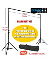 Heavy Duty 14Feet height Photography/ Filming Backdrop Stand Back Screen Support System Portable Kit for Studio or On-Site Use [ GizmoGrid ]