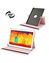 360 Degree Rotatable Litchi Texture Leather Case with 3-angle Viewing Holder for Samsung Galaxy Note Pro 12.2 / P900 / Samsung Galaxy Tab Pro 12.2 (Pink)