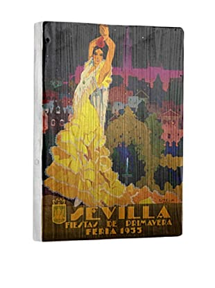 Artehouse 1933 Sevilla Fiesta Reclaimed Wood Sign