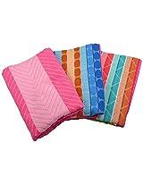 Jai Ambe 150 GSM 3 Piece Cotton Towel Set - Multi Colour