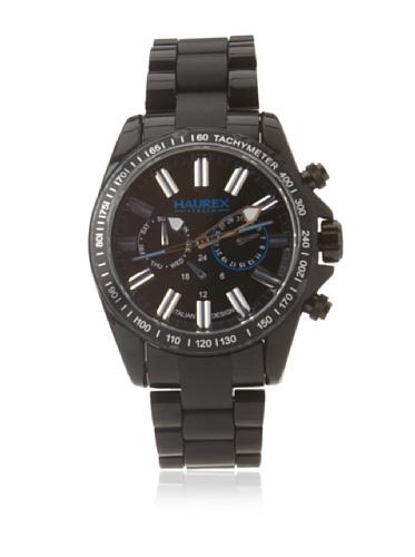 Haurex Italy Men's N0366UNB Aston Black Multi-Function Watch