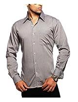 Moksh Men's Striped Casual Shirt V2IMS0414-238 (Large)