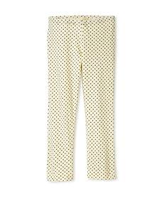 Lunchbox Girl's Dot Crop Leggings (Yellow)