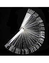 Jovana 50 False Nail Art Board Tips Stick Polish Foldable Display Practice Fan Clear