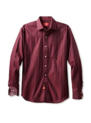 Rufus Men's Button-Up Shirt (Herringbone)