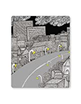 PosterGuy The City Life | Line Art Graphic Illustration Mouse Pad