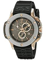 Oniss Paris Men's ON612N-RB/RG-GRY/BLK BOLD COLLECTION Analog Display Swiss Quartz Black Watch