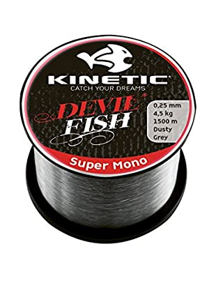 Kinetic Angelschnur Super Mono 0,40 mm grau
