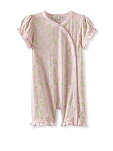 Lucky Jade Print Elephant Cotton Coverall (Pink)