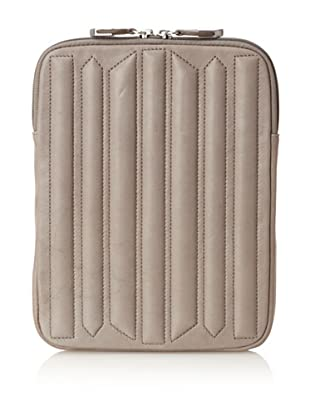 Allibelle Women's Trapunto Striped iPad Case (French Grey)