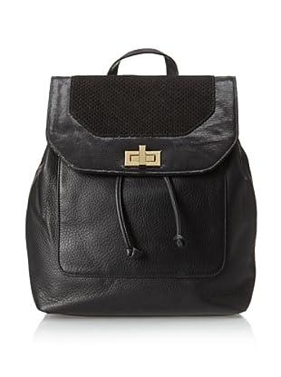 Luciana Verde Women's Stringray Backpack, Black Matte/Stingray/Black Perf