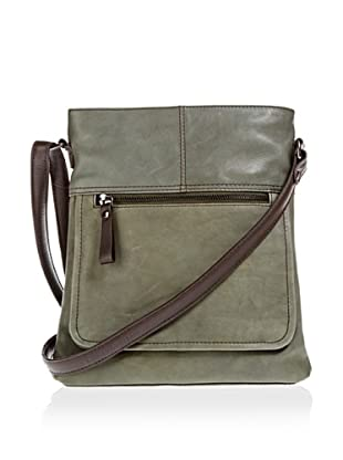 Borella Leder Cross-Body Bag (Grün)