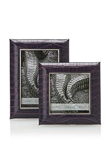 Sicura Set of 2 Faux Croc Frames (Purple)