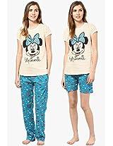 Peach Printed Pyjama Set Disney By July Nightwear