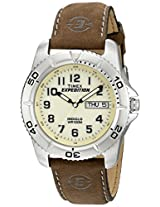 Timex® Men's EXPEDITION® Brown Leather Strap Watch #T46681