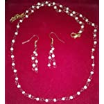 Delicate Golden and white shell pearl Fashion Jewellery Set