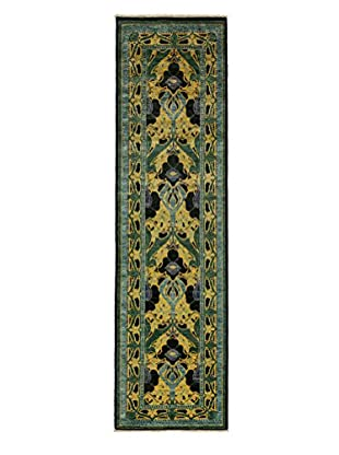 Darya Rugs Arts & Crafts Handmade Rug, Black, 2' 8