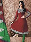 Red Colour Georgette Zari Work : Wdv30082