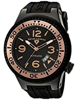 Swiss Legend Men's 11819A-BB-01-RB-W Neptune Automatic Black Dial Black Silicone Watch