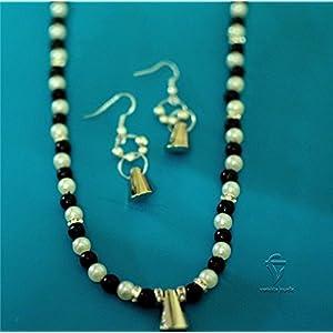 Varishta Jewells Black & White Fashion Beaded Necklace