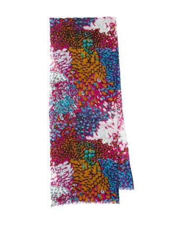 Lulla by Bindya Women's Pheasant Wool Scarf (Pink)