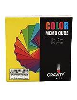 Gravity Multi-Colour Memo Cube- (10x10) 250 Sheets- High Quality A-Grade Paper