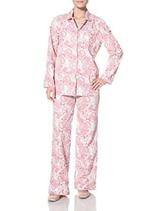 Three J NYC Women's Jamie Long 2-Piece Top and Pant Set (Pink Paisley)