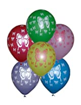 Tiger 50188 Butterfly Printed Balloons Multicolor (Pack of 50)