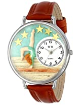 Whimsical Watches Unisex U0810014 Gymnastics Tan Leather Watch