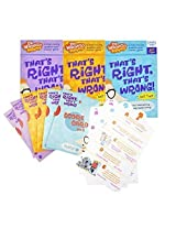 Brain Teasers for Kids 1st Grade through 4th Grade - 3 Pack of Educational Games - Thats Right, Thats Wrong!