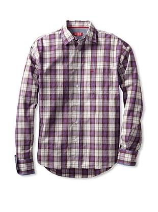 Rufus Men's Casual Button-Up Shirt (Purple Multi Plaid)