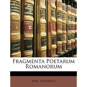 Fragmenta Poetarum Romanorum (Latin Edition)