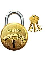 RAMSON COMMANDER 6 Levers Brass Lock 50mm with 3 Keys