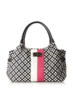 Kate Spade Women's Classic Stevie Tote Bag, Black/Cream