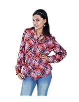 UPTOWNGALERIA Checked Semi Crepe Shirt
